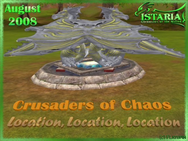 August 2008 Crusaders of Chaos title pic